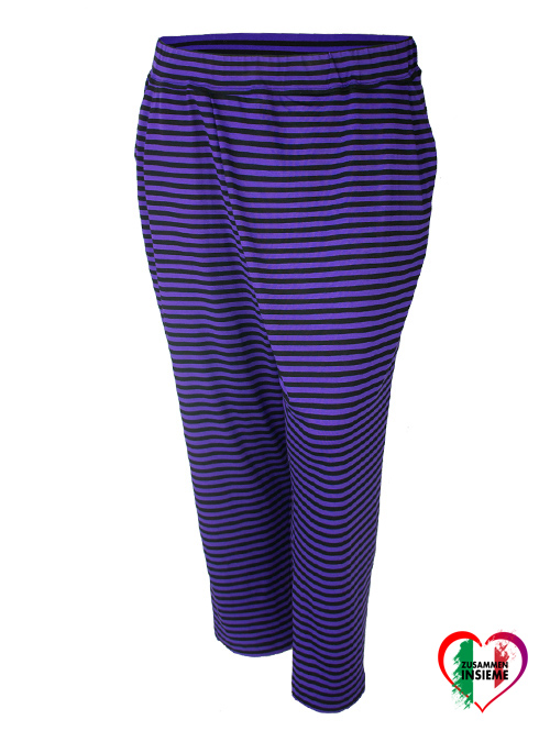 Play Pants, Cropped, Ultraviolet striped