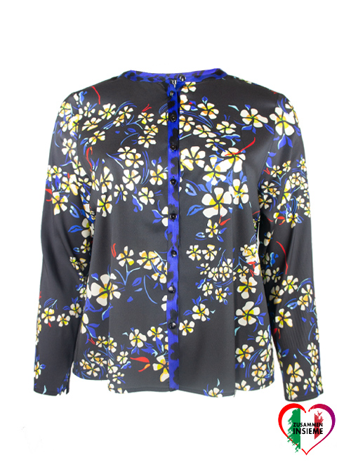 Silk Blouse Midnight Paradise