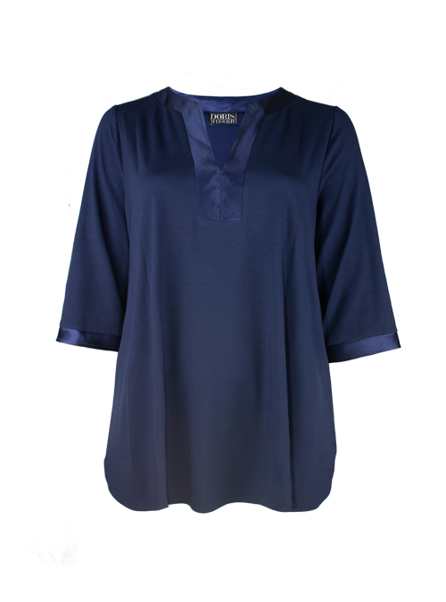 Tunique de Luxe, Dark Blue Jersey