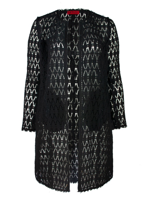 Lace Coat, Next Level Black
