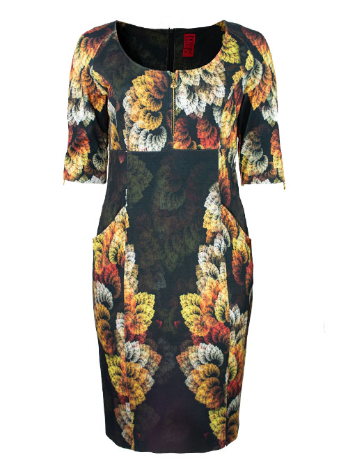 New Shape Dress, Golden Leaves