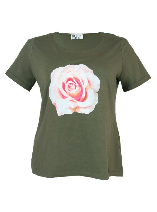 Doris Statement Shirt, Art Edition, Rosy Rose
