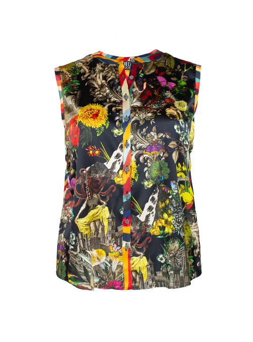 Blouse Statement Sleeveless, Joyful City trip