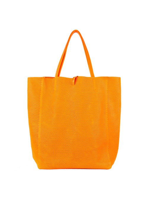 Neon Bucket Bag, Orange
