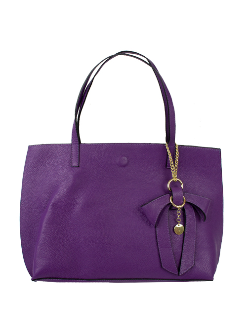Bow Tote Bag, Perfect Purple