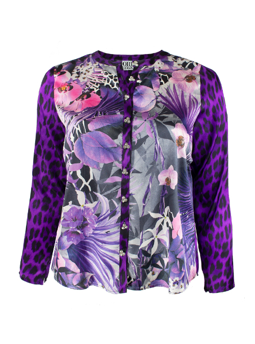Silk Blouse, Purple rocks, Leo