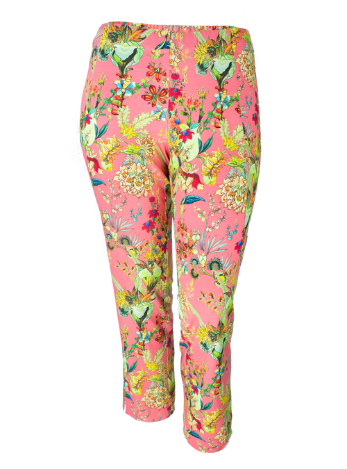 Complementing Pants, Printed Cropped, Portofino