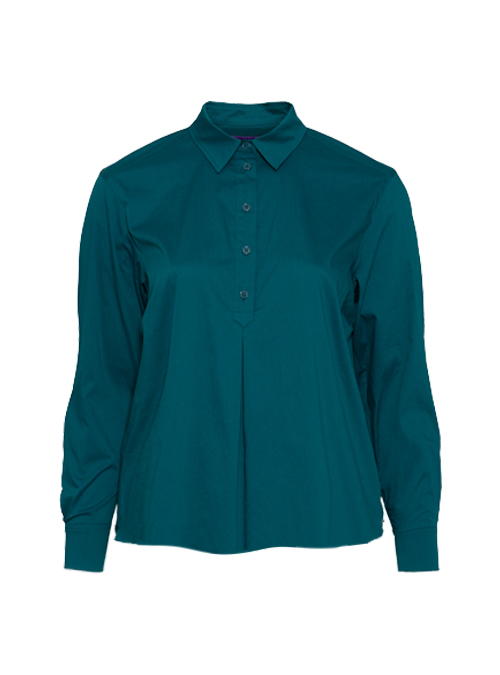 Casual Blouse, Deep Teal, Short Cut