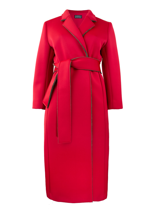 Contemporary Layer Coat, Neo Red