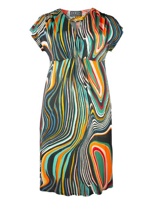 A-Line Dress, Merengue, V-Neck