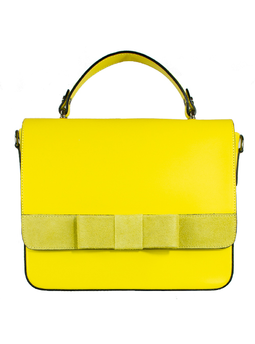Bow Boxy Bag, Canary