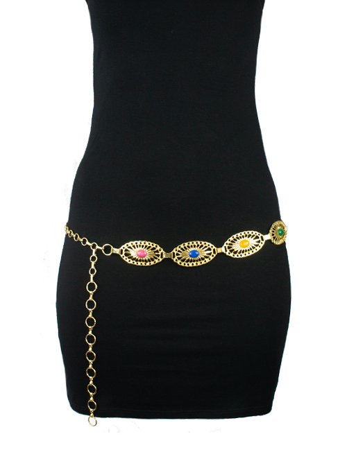 Couture Belt, Gold, Bohemian