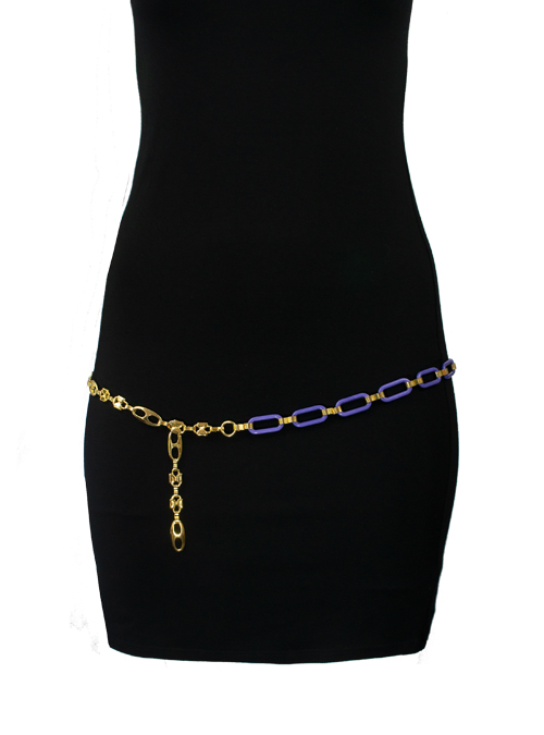 Couture Belt, Gold and Ultraviolet