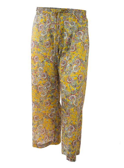 Midi Wide Leg Pants, Nostalgia Flowers