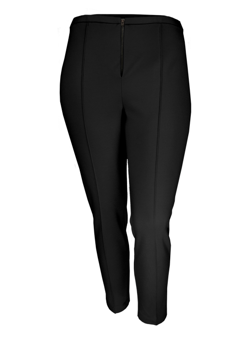 Cigarillo Pants, Timeless Black, Front Zip