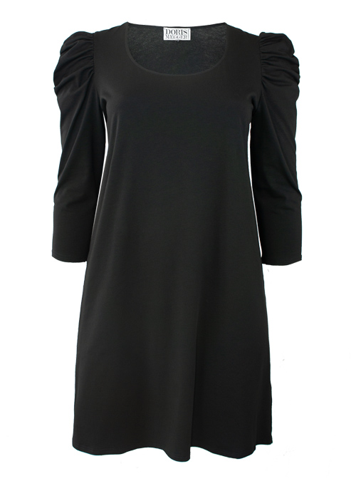 Ruffle Sleeve Dress, Black