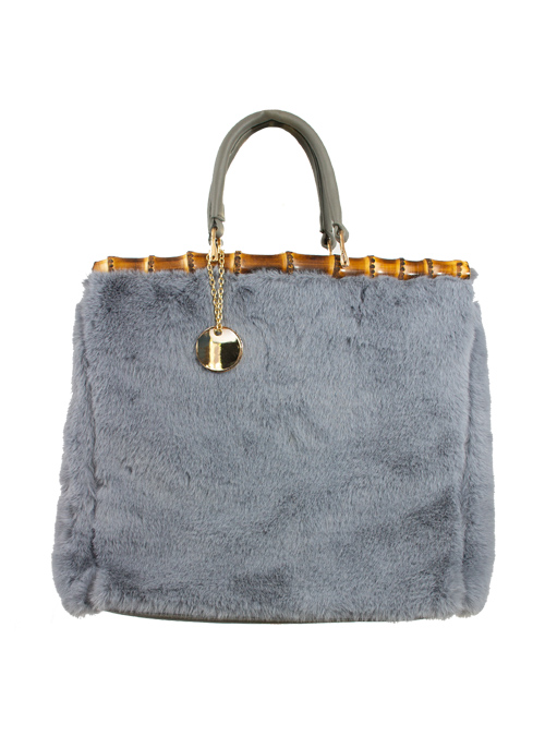 Bamboo Boxy Bag, Soft Pastell Blue