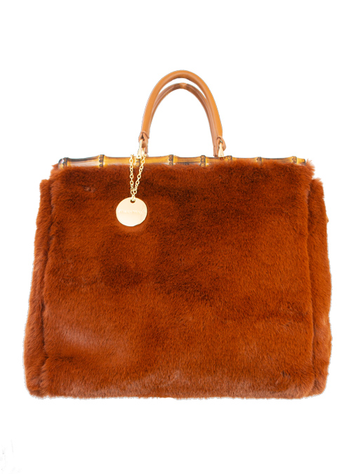 Bamboo Kelly Bag, Light Chestnut