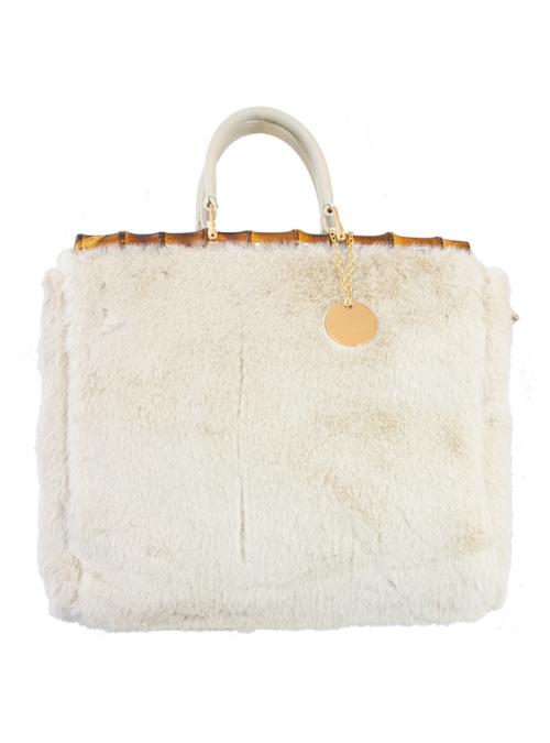 Bamboo Kelly Bag, Pearl