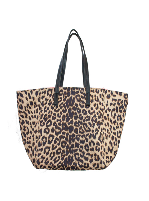 Change Tote Bag, Leo and Fake Fur, Mauve