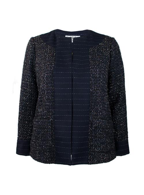 Couture Blazer, Midnight Elegance