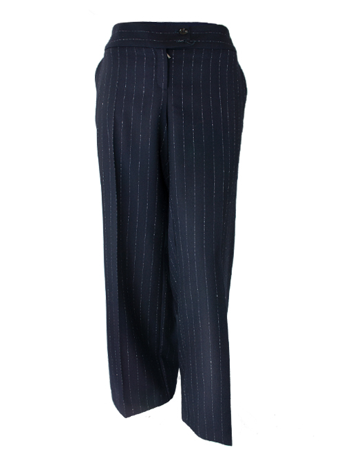 Marlene Pants, Extendet Cut, Midnight stripes