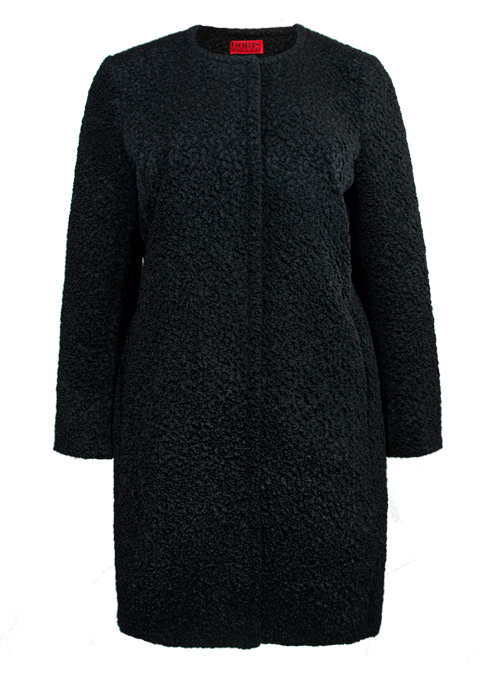 Soft Cut Coat, Black Persianer