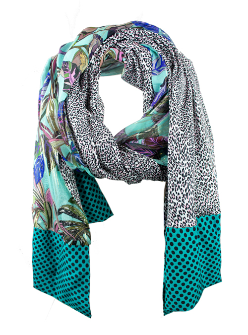 Printed Silk Scarf, Extra Long, Duchess