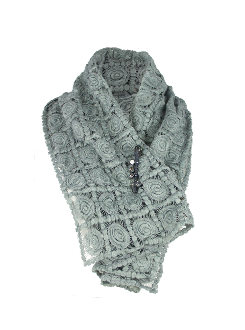 Woopy, Loop Wool Scarf, Soft Grey
