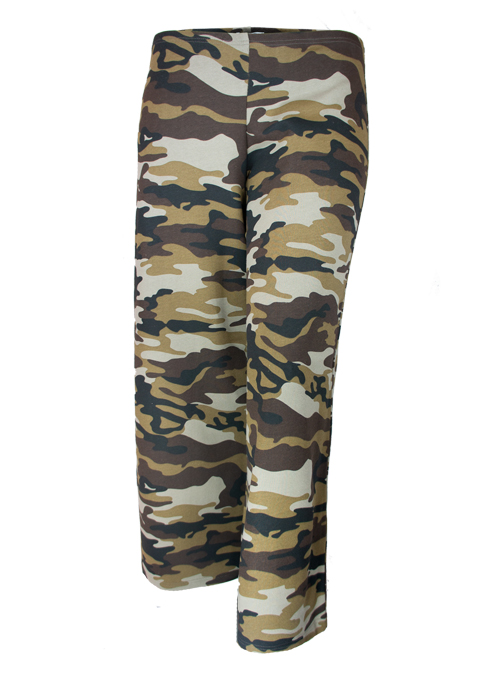 Home Sweet Home Palazzo Pants, Camouflage