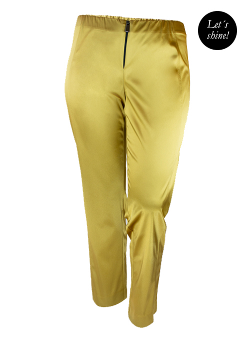 Lets shine Satin Pants, Gold
