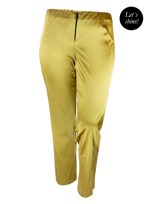 Lets shine Satin Pants, Gold