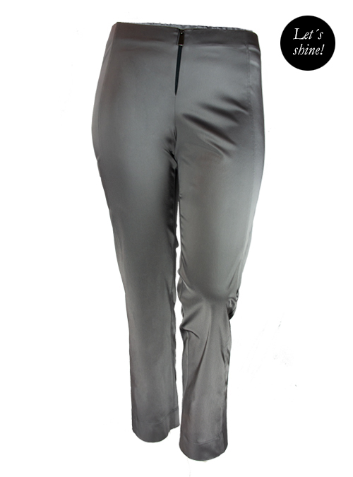 Lets shine Satin Pants, Smoky Grey