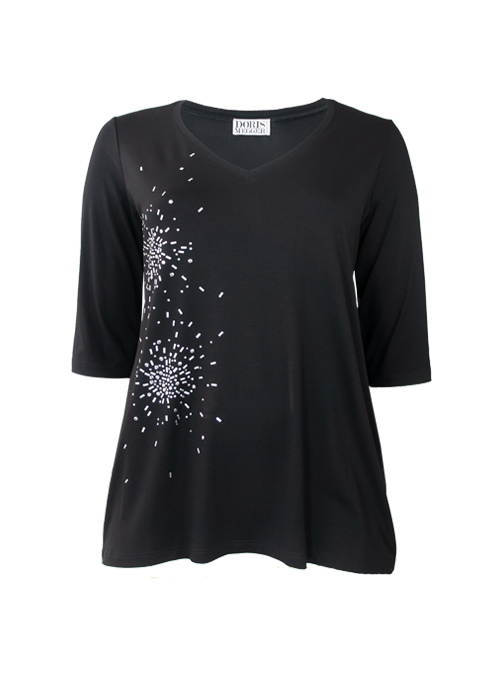 Light A-Line Shirt, V-Neck, Glam Edition