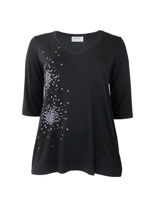 Light A-Line Shirt, V-Neck, Glam Edition