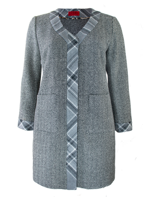A-Line Coat, Herringbone