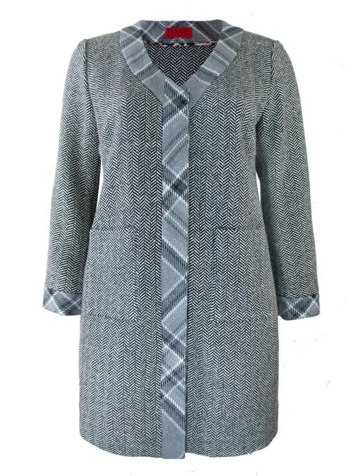 A-Line Coat, Herringbone