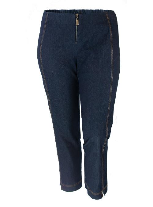 Boho Pants, Denim Dark Blue, Cropped