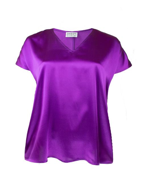 Sleek Silk Shirt, Modern Muse