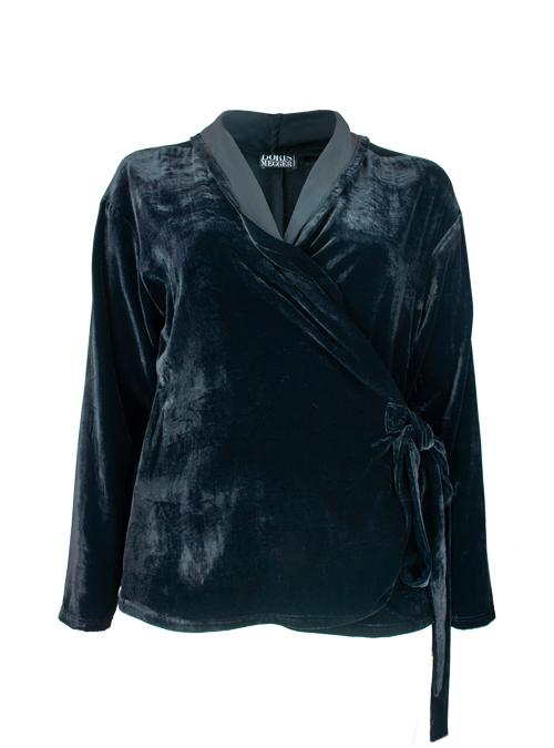 Velvet Layer Wrap, Black