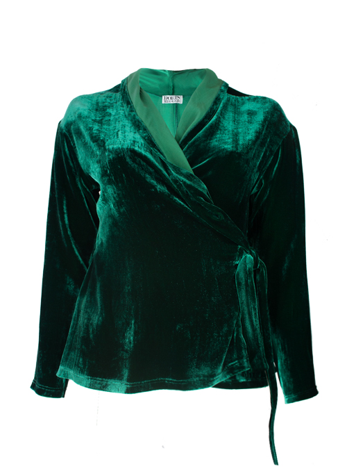 Velvet Layer Wrap, Emerald
