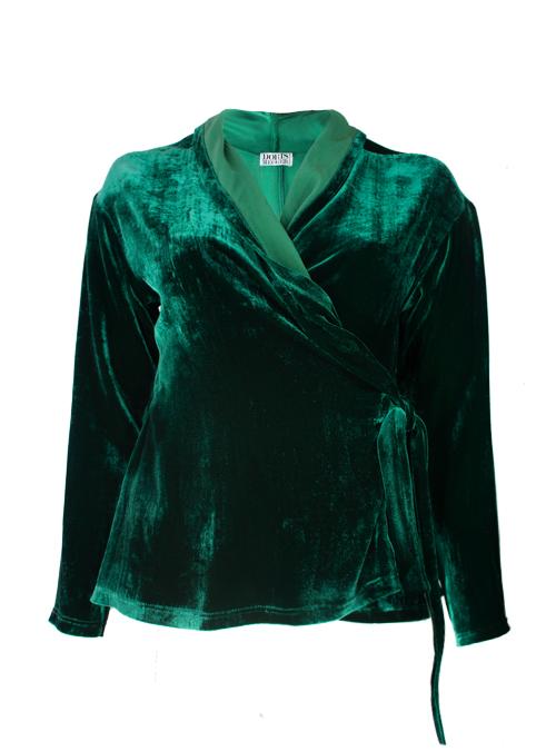 Velvet Layer Wrap, Emerald