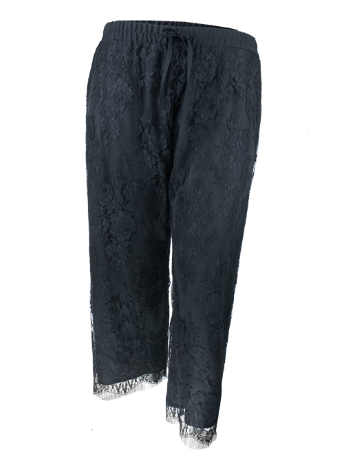 Refined Lace Pants, Black