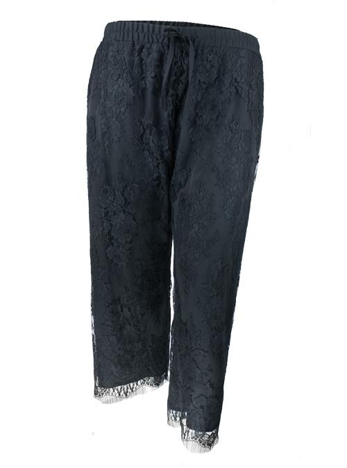 Refined Lace Pants, Black