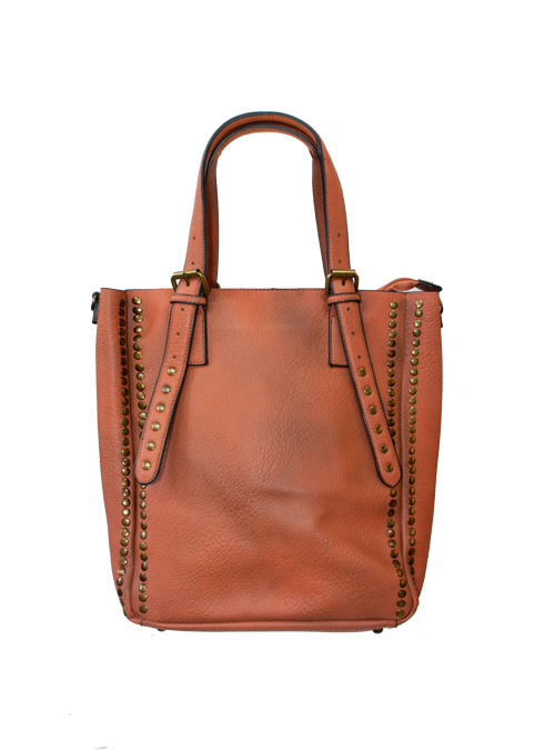 Bucket Bag, Studs, Havanna