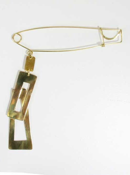 Golden Elements Pin, Italian Craftsmanship