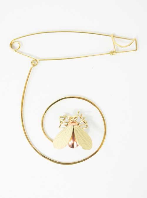 Golden Fly Pin, Italian Craftsmanship