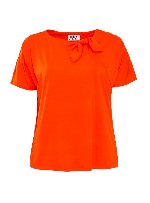 Bow Basic Shirt, Jersey, Orange D´amour