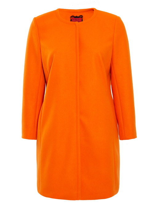 Clean Cut Coat, Expressive Orange