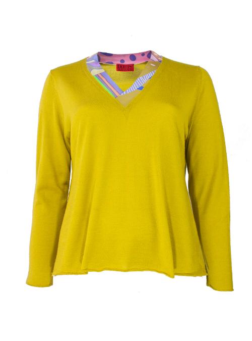 Precious Mixture Pullover, Cashmere and Silk lined V-Neck